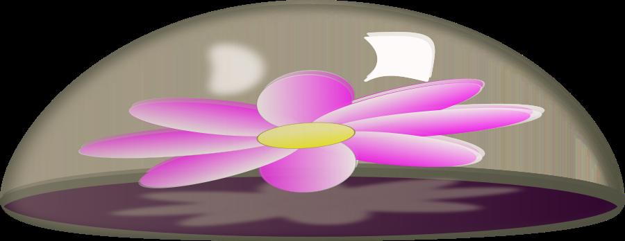 Flower in Glass Paper Weight Clipart, vector clip art online.
