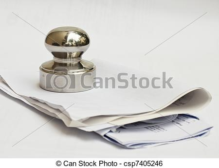 Stock Image of Paper Weight.