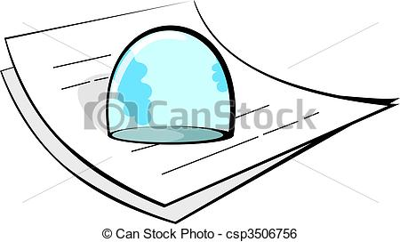 Stock Illustration of paperweight.