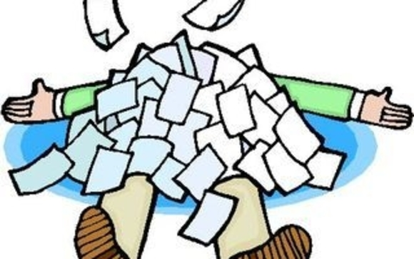 Download buried in paperwork clipart Clip art.
