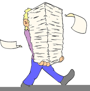Clipart Buried In Paperwork.