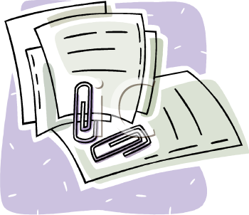 Paperwork Clipart.