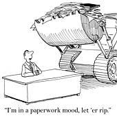 Paperwork Overload Clipart.