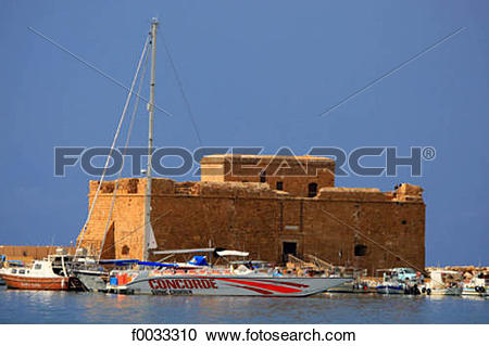 Stock Photography of Cyprus, Paphos, the port and the Paphos.