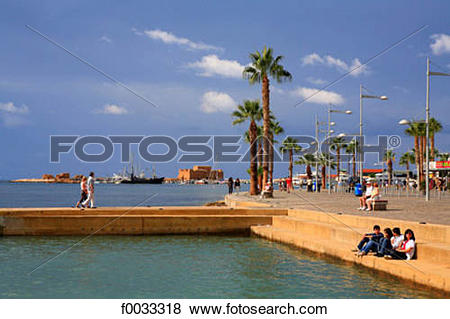 Pictures of Cyprus, Paphos, seawater pool, the port and the Paphos.