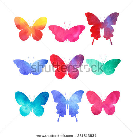 Colorful Butterflies Clipart Stock Photos, Royalty.