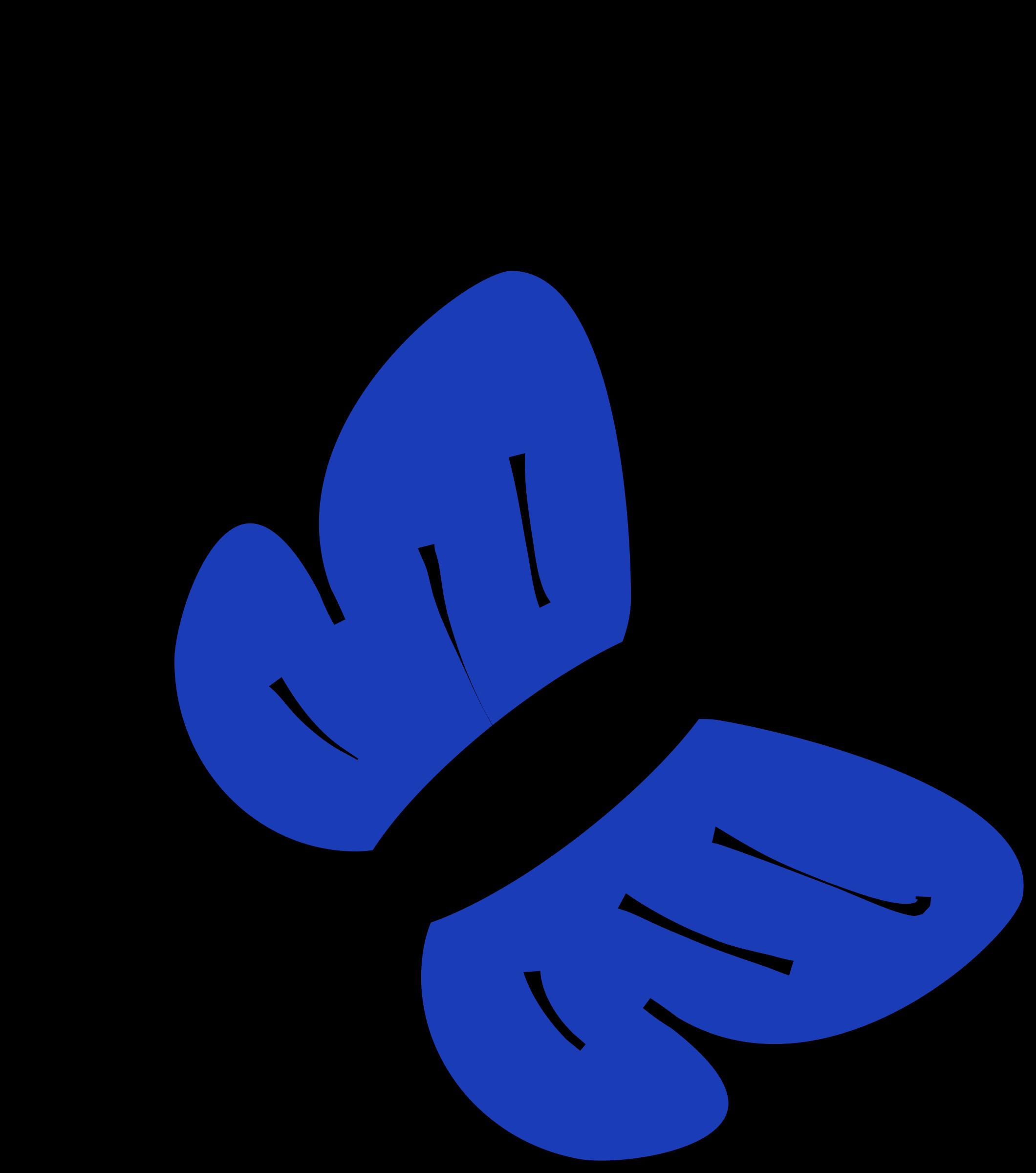 Clipart papillon bleu.