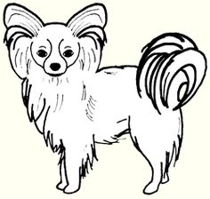 Papillon Dog Clip Art.