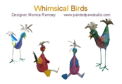 Wie man die skurrilen Papier Pappmache Vögel von paintedpawstudio.
