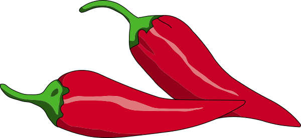 Peperoncino Reversed Clip Art at Clker.com.