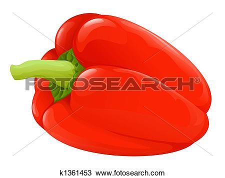 Drawing of red paprika k1361453.