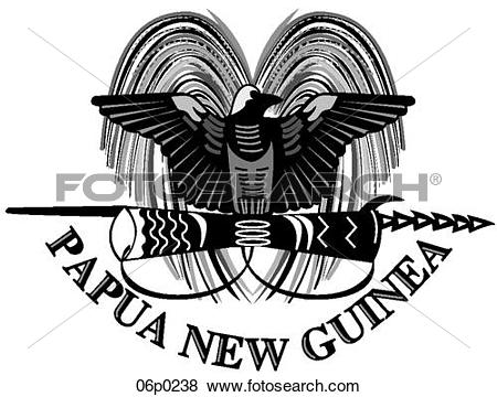 Clip Art of papua new guinea 06p0238.