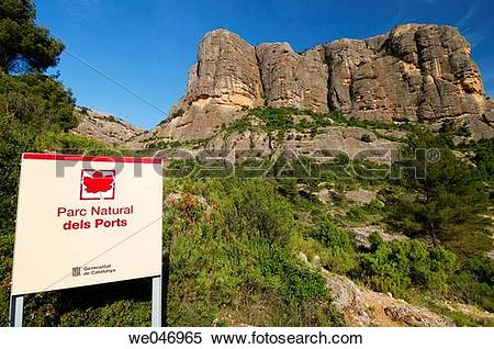 Stock Image of Mola de Biernets. Parque Natural dels Ports. Horta.