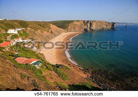 Stock Image of Praia da Arrifana, Aljezur, Parque Natural do SW.