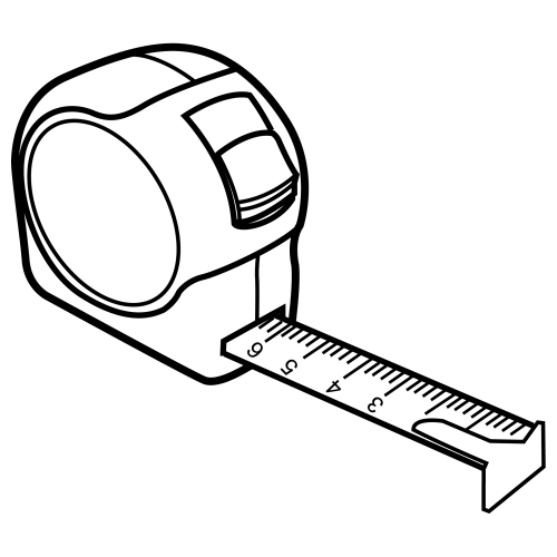 Clip Art Black And White Tape Measure Clipart.