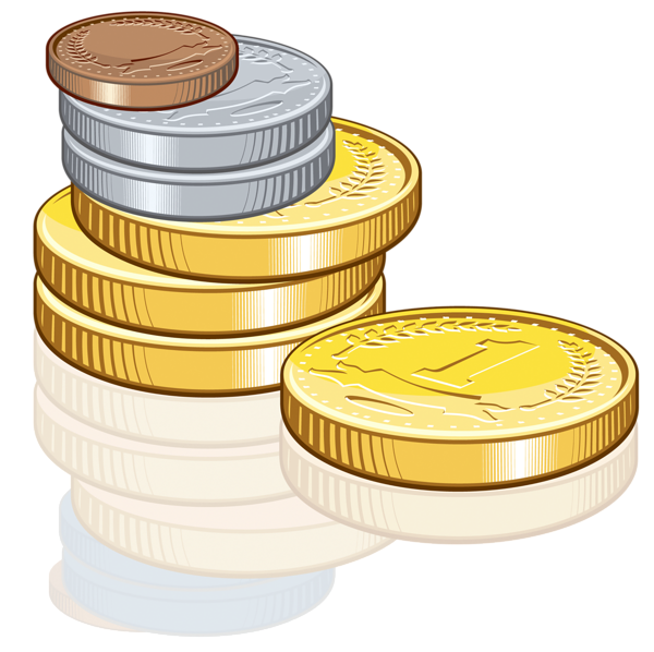 Gold Coins PNG Image.