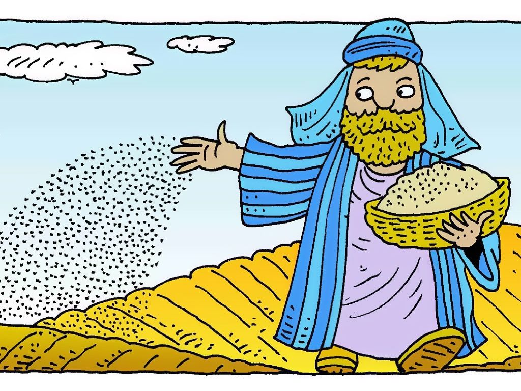 FreeBibleimages :: The Farmer and the Seed (Parable of the.