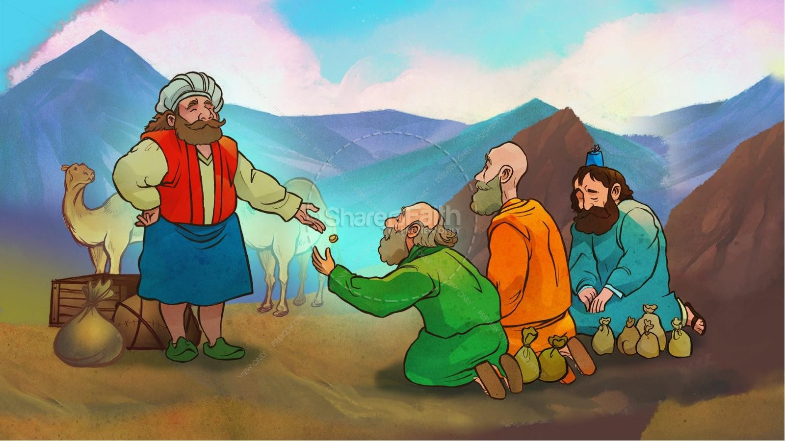 The Parable of the Talents Kids Bible Story.