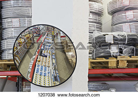 Pictures of Parabolic mirror in warehouse store 1207038.