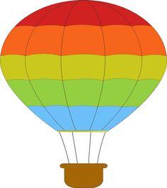 Rainbow parachute clipart.