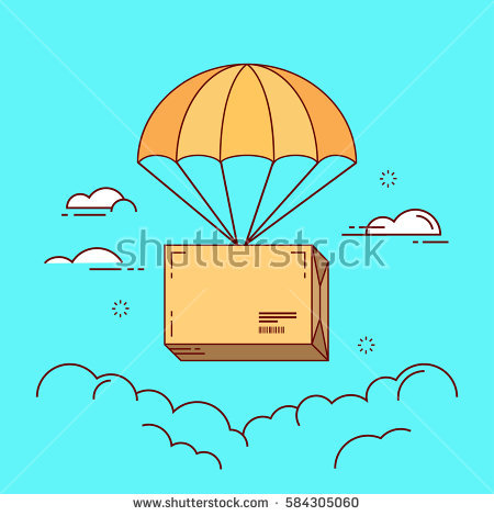 Parachute Stock Images, Royalty.