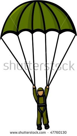 Military Parachute Stock Images, Royalty.