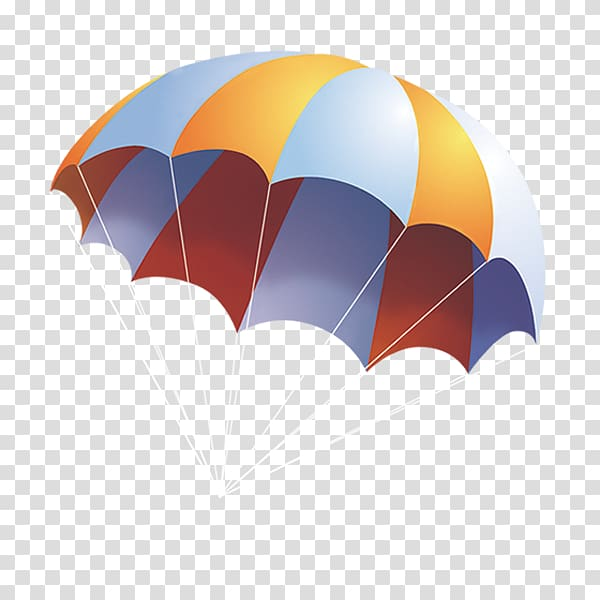 Multicolored parachute illustration, Cartoon Parachute.