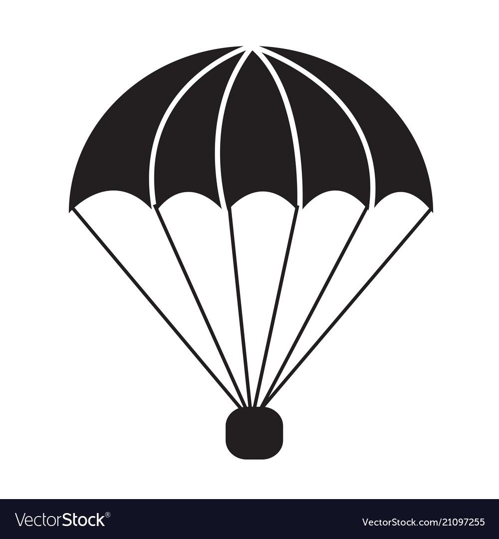 Parachute icon symbol design.