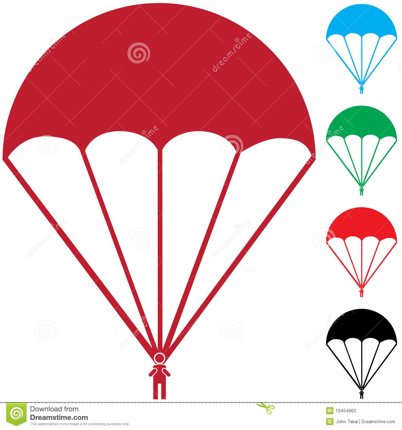 Parachutes clipart #19