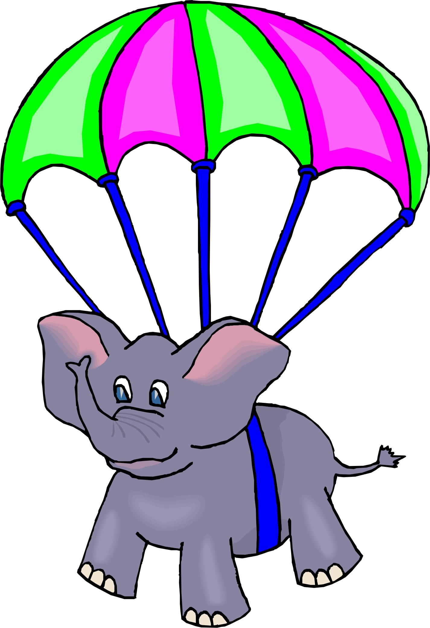 Parachutes clipart #12