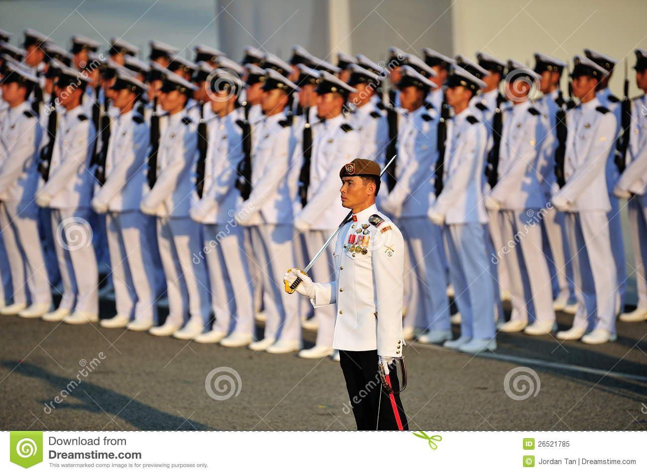 Parade Commander LTC Clarence Tan At NDP 2012 Editorial Image.