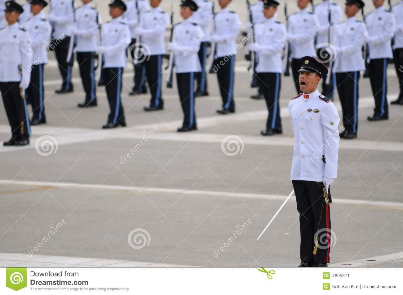 Parade Commander Editorial Image.