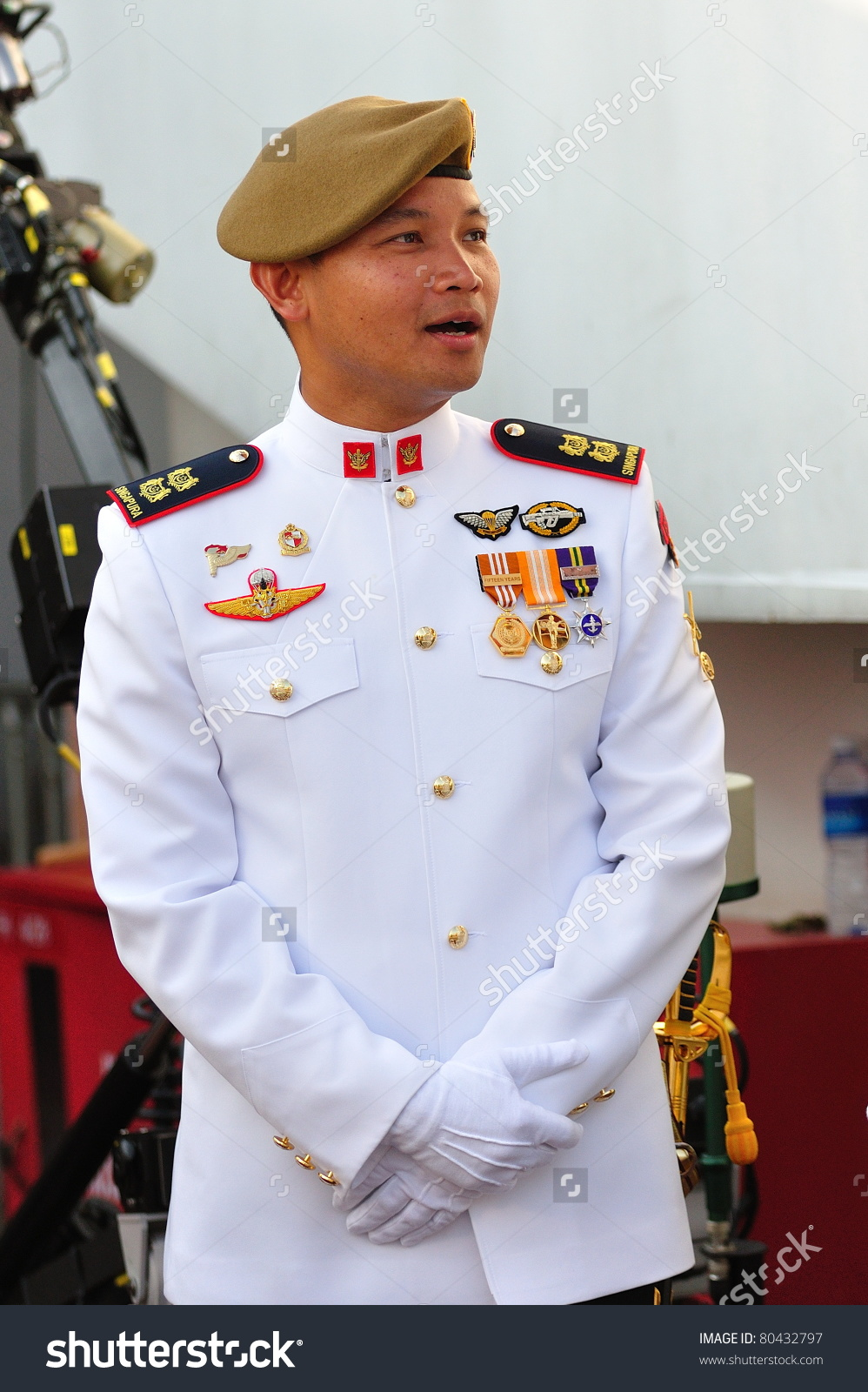 Singapore June 25 Parade Commander Ndp Stock Photo 80432797.