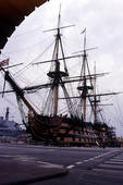 Stock Photo of HMS Victory Portsmouth England UK view across.