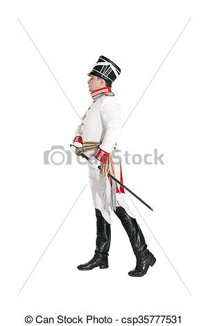 Stock Photos of Horse Guards officer marching on the parade ground.
