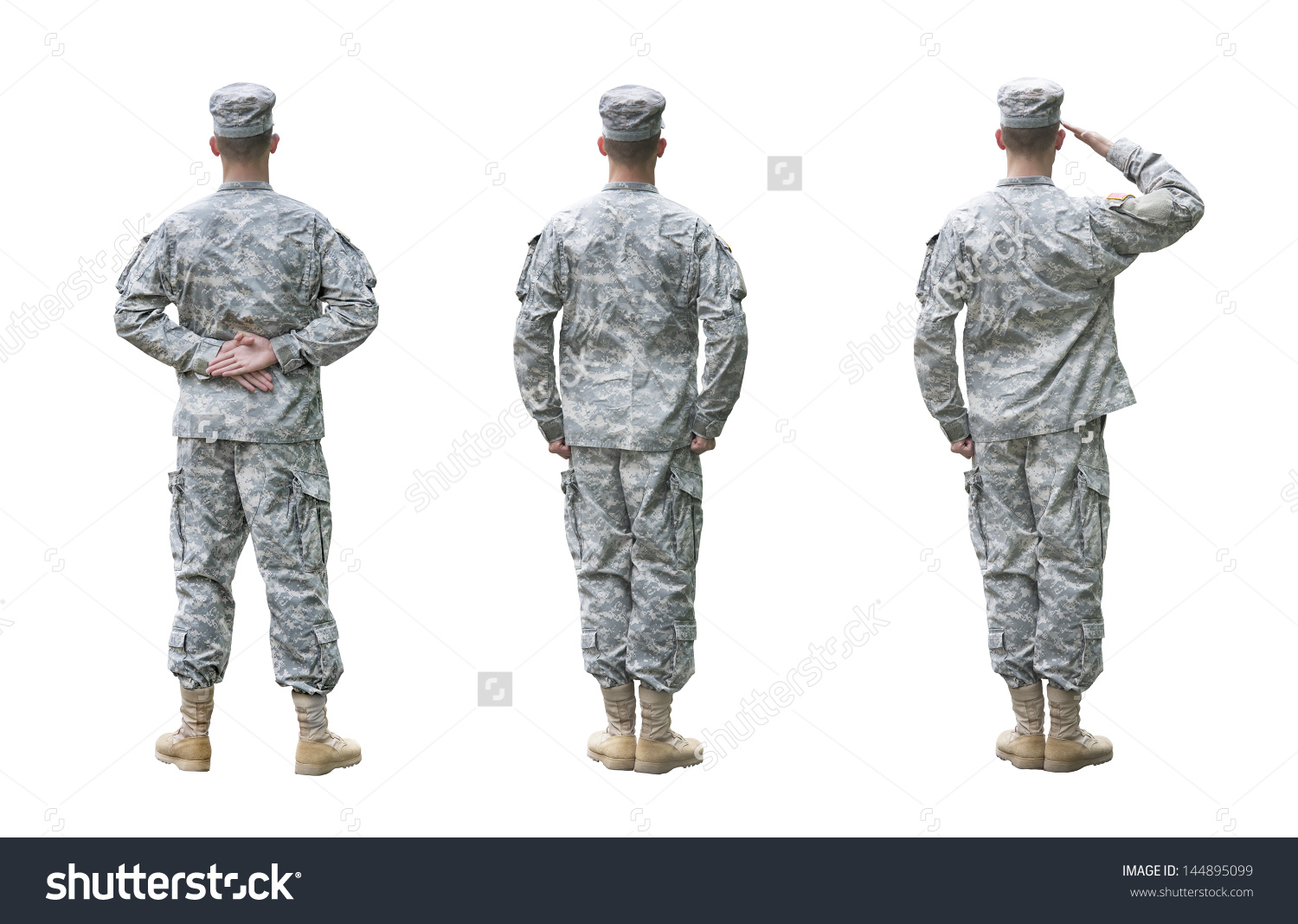 Us Army Soldier Three Positions Parade Stock Photo 144895099.
