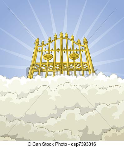 Clip Art Vector of Paradise gate.