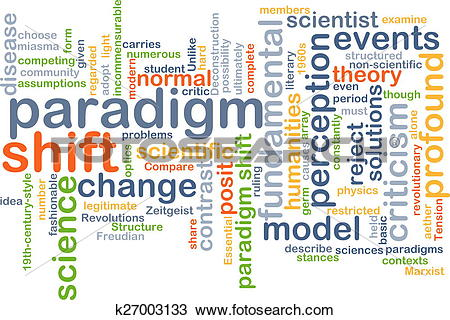 Drawing of Paradigm shift wordcloud concept illustration k27003133.