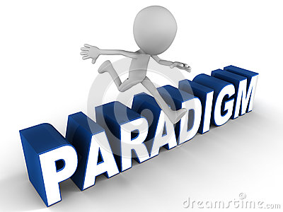 Paradigm Shift Stock Image.