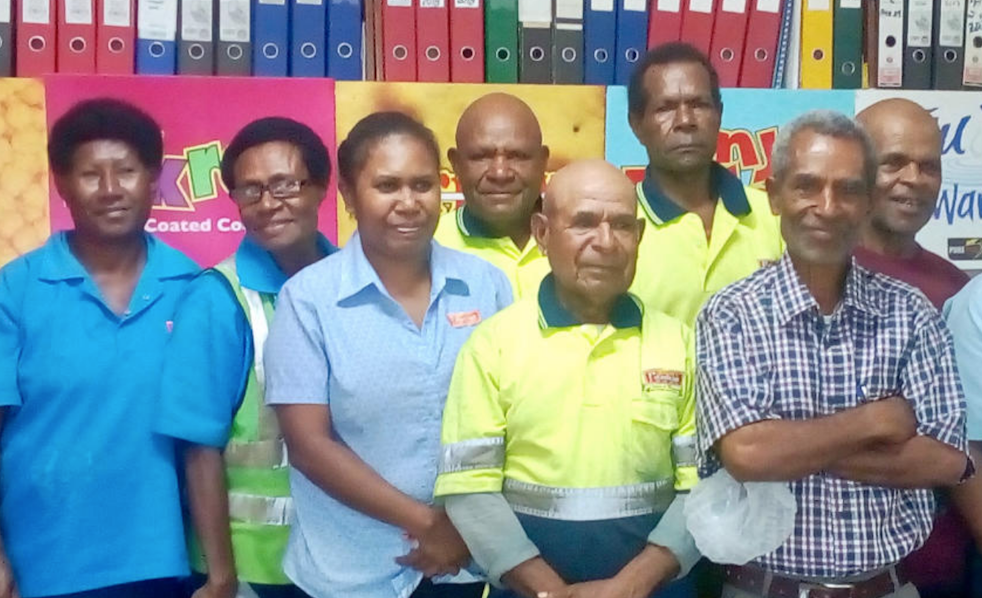 8 employees retire from our factory.