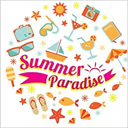 Summer Paradise: Journal: High School Memory Book in All.