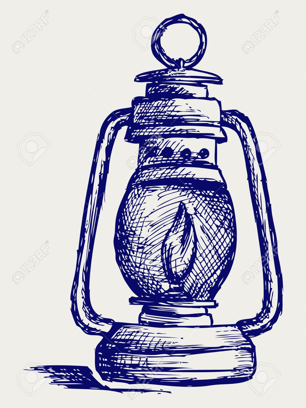 Kerosene Lamp. Doodle Style Royalty Free Cliparts, Vectors, And.