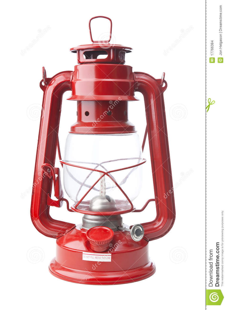 Red Oil Lamp Isolated On White Stock Images.