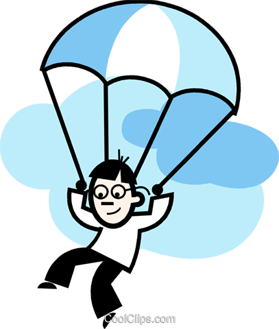 Parasailing Paragliding Royalty Free Vector Clip Art illustration.