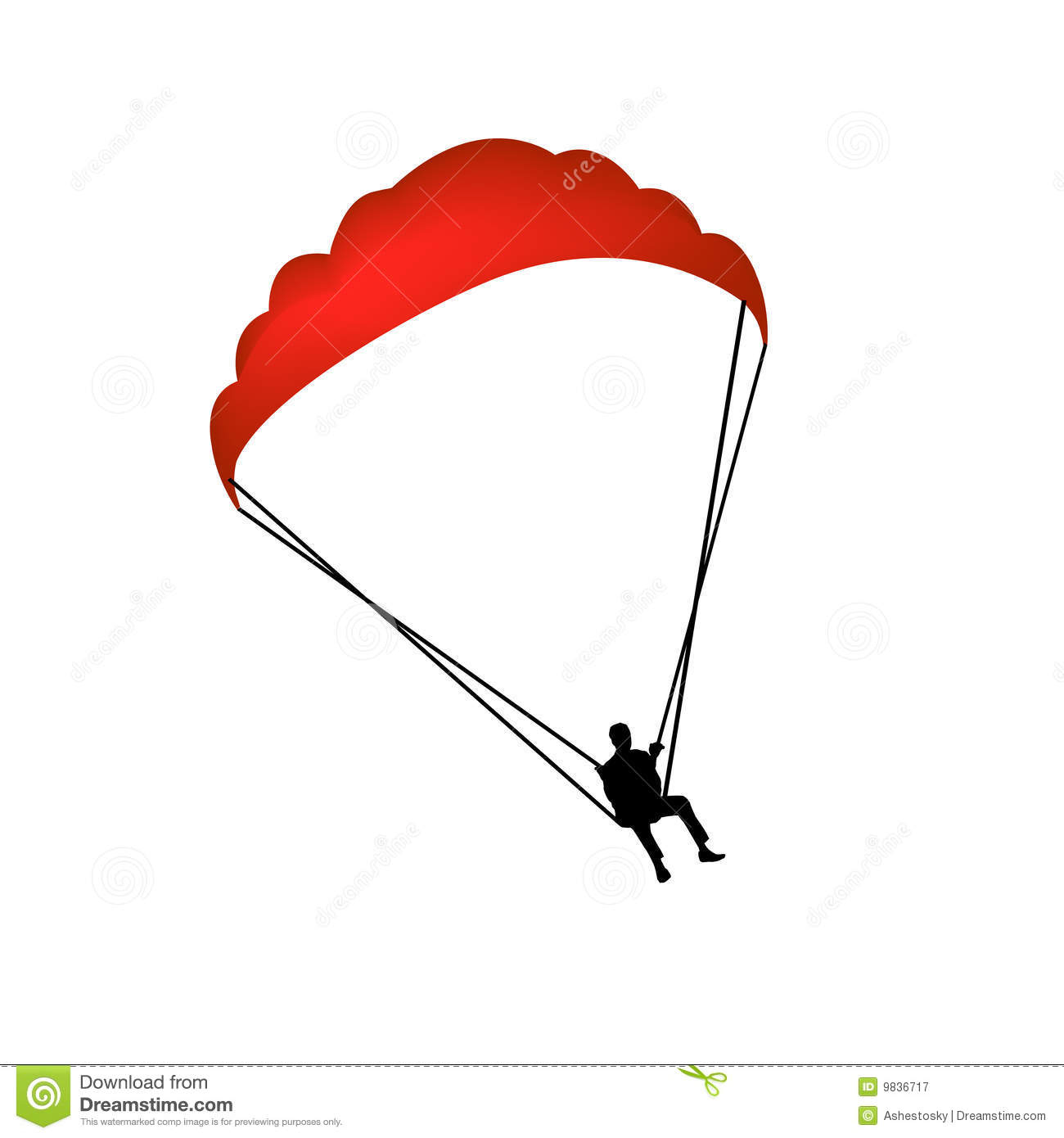 Paragliding Stock Illustrations.