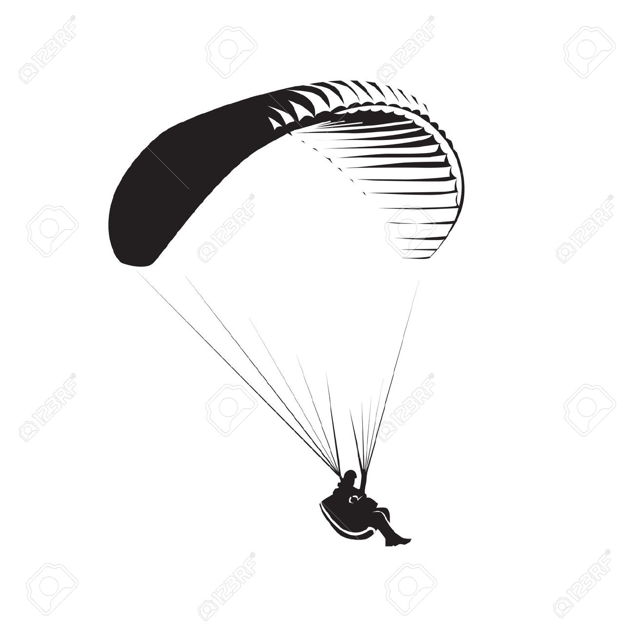 1,210 Paragliding Stock Vector Illustration And Royalty Free.