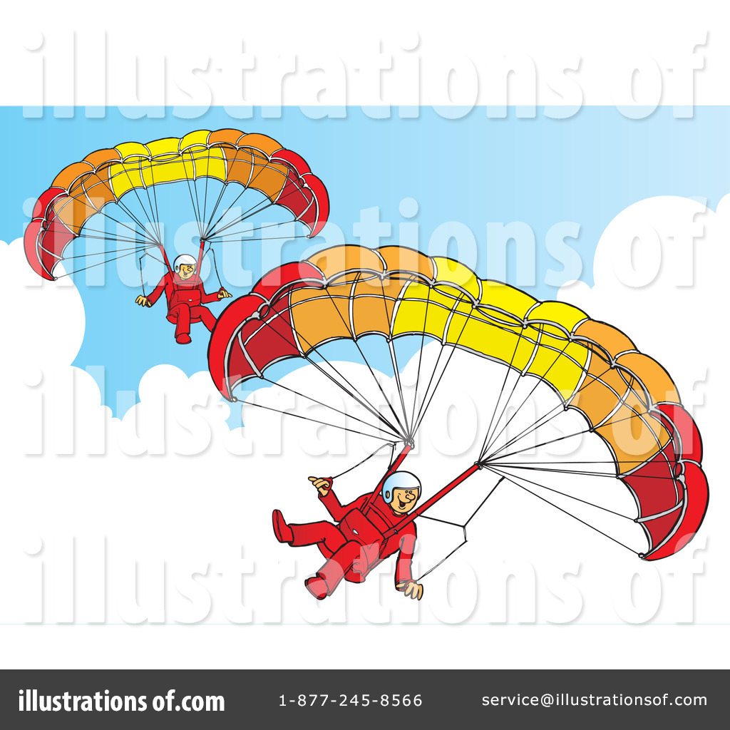 Paragliding Clipart #41909.