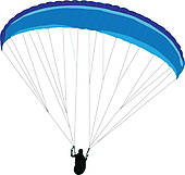 Paraglider Clip Art.