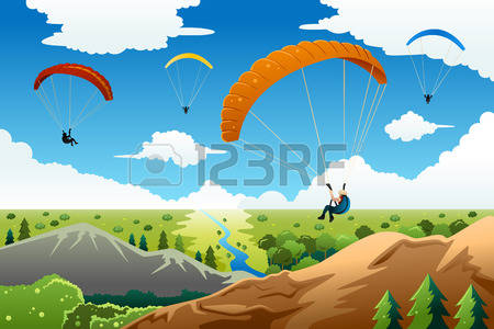 557 Paraglider Stock Vector Illustration And Royalty Free.