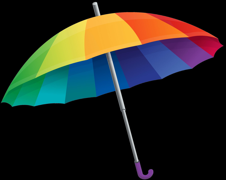 Umbrella Rainbow transparent PNG.